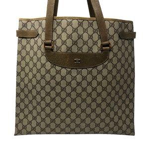 Gucci Vintage GG Beige Canvas Tote Bag
